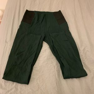 Zara Dark Green High Waisted Leggings